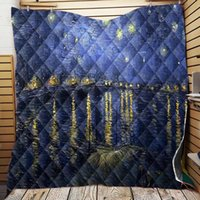Comforters & Sets Starry Sky Garden Quilt Blanket Oil Painting Bed Cover Soft Warm Sofa Couch For Kids Adult Bedroom Decor