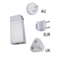 GaN 65W Dual Port Power Adapter GaN new technology USB charger USB-C Fast Charger interchangeable plug Wall Charger