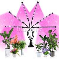 Adjustable Tubes Led Clip Grow Light Six Heads Red Blue Desktop Plant Lamp 54W Pot Plants Lighting for Veg Flowers