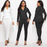 Women's Suits & Blazers Fashion Personality Casual Slim Solid Color Single Buckle High Waist Tight Sexy Office Suit