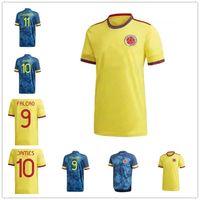 2021 إصدار لاعب كولومبيا لكرة القدم الفانيلة 21 22 كولومبي الرجال + أطفال Camiseta de Futbol James Falcao Cuadrad Valderramama Football Shirts