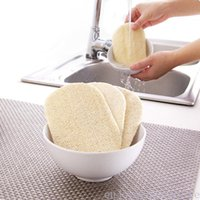 3pcs Set LOOFAH NATURAL LOOFAH PESSONO DISPLAY SCRB TAPPA PAD DROSH BOWN POT Easy to Clean Scrubber Spugna Cucina Pennelli puliti Scrub Pad