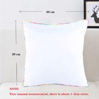 40X40cm Sublimation DIY Pillow Case Heat Transfer Printing Pillowcase Cushion Polyester Pillowslip Free Ship GWD7341