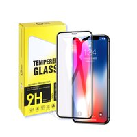 Full glue tempered glass mobile phone screen protector, suitable for iphone 12 Mini 11 Pro Max 6 7 8 Plus X XS XR with packaging