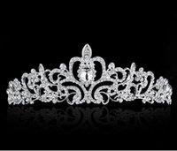 Bon marché accessoires de cheveux accessoires de cheveux de mariage diadème de haute qualité brillants cristaux perlés de mariage couronnes mariées voile voile diadème couronne