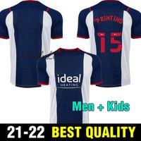 21 22 West Brom Home Fussball Jerseys 2021 2022 Away football Hemd Camiseta de Futbol Bromwich Albion Robson-Kanu Uniform