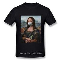 Mona Lisa Mask Parody Aesthetic Tshirsts Vintage Michelangelo Art T-shirt divertenti per uomo Popolare T Shirt 100
