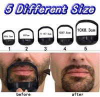 2021 Hombres Clippers Plantilla Guía de diseño Bigote Goatee Shaving Shape Style Beard Gobile Peine Forma perfecta Herramienta de Estilo 5pcs / Set