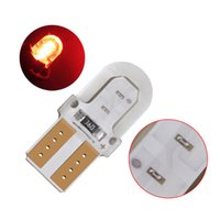 100Pcs Red T10 168 194 W5W COB 4 Chips Silicone LED Car Bulbs For Clearance Lamps License Plate Lights 12V