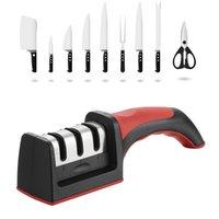 Sharpener de faca de 3 estágios de lmmmetjma com 1 mais substituir a ferramenta de afiação de cozinha manual para todas as facas DHL grátis
