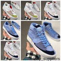 2020 SB Zoom Blazer Orta Kenar Koşu Ayakkabıları Erkek Bayan Beyaz Siyah Yeşil Mavi Kaykay Erkek Spor Eğitmenleri Sneakers des Chaussures
