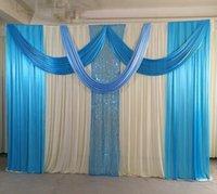 Décoration de fête 3mx3m Design Rideau de toile de fond de mariage avec bandes d'anniversaire
