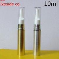 Livraison Gratuite 10ml Gold Silver Pack Vide Pack Pump Pump Pump Top Grade Revillable Mini Gel Eye Gel Essentiel Contenants Cosmétiques Haute Qualité