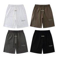 21SS Светоотражающие высокие уличные шорты мужские повседневные спортивные брюки свободно негабаритные стиль шорты шорты Trend Drawstring