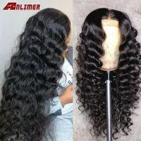 Perruques en dentelle Les cheveux humains lâches 13x4 frontal pour femmes noires Brésilien prépuissaire Perruque de base profond 5x5 ''