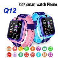 Nuovo Q12 Bambini Smart Watch Sos Phone Watch Smartwatch per bambini con carta SIM Photo Impermeabile IP67 Regalo per bambini per iOS Android