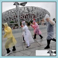 Household Sundries Home & Gardenfashion One-Time Raincoat Pe Raincoats Disposable Poncho Rainwear Travel Coat Rain Wear Ia527 Drop Delivery