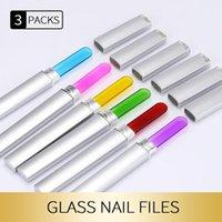 Nageldateien 3 stücke Kunst Kristallglas Dateipuffer Nagelhaut Reiniger Polnisch Durable Puffing Sanding Tipps Maniküre Dekoration Werkzeuge