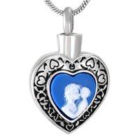 CMJ9789 «Мама и детка» в сердечном мемориальном урном ювелирных изделиях ожерелье маленькие ашмилины подвески
