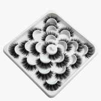 3D mink false eyelashes 10 pairs of lotus plate packing sets thick dense fake eyelash lash package lashes faux cils