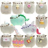 Peluche Giocattolo Il gatto Angelo Cake Biscotto Gelato Gelato Uovo Pizza Donut Rainbow Sushi Dinosauro Dino Cats 15cm Bambola Peluche Regalo imbottito Giocattoli morbidi