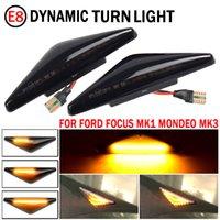 2 Parça LED Dinamik Yan İşaretleyici Dönüş Sinyali Işık Sıralı Blinker Işık Ford Mondeo 2000-2007 MK 3 Odak MK1 1998-2004