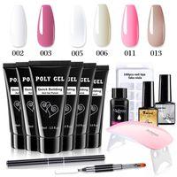 Kits Nail Art Kit in gel acrilico Poly con mini kit essenziale estensione glitter lucido miglioramento del miglioramento