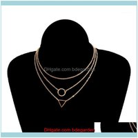 Pendant Necklaces & Jewelrynecklaces Women 3Pcs Clavicle Layered Initial Womens Jewellery Set Small Pendants For Girlfriends Chain Short Pen