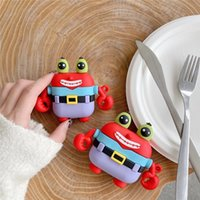 New for Air pods 3 Case 3D Cute Crab Earphone Headset Cases Silicone Protective Wireless Bluetooth Headphone Cover For Airpods 1 2 Pro