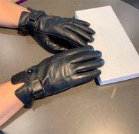 Guanti in pelle di inverno da uomo alla moda Morbido caldo pelle di pecora guanti da touch screen touch screen di alta qualità con scatola regalo