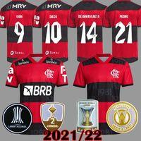 2021 Flamengo Soccer Jerseys Homme Femmes Diego Gabriel B. Gabi Football Jersey de Arrascaeta E.Ribeiro Gerson B.Henrique Camisa Flamengo 21 22