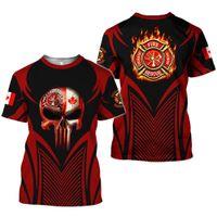 L'ultimo vigile del fuoco Skull Art 3D Stampa vestiti per l'estate 2020 Mens T-shirt Abbigliamento Harajuku