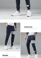 Luxury 2020 new men&#39s pants essentials men&#39s trousers hip-hop sports pants men&#39s three-bar casual pants