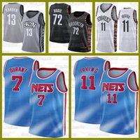 Nova Kyrie James 13 Endurecer BrooklynRedesNCAA Black 72 Biggie 11 Irving Kevin Jerseys 7 Durant City Basketball Esportes Jersey