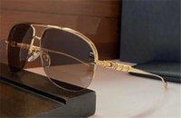 Nova Moda Popular Design Sunglasses Rehab Piloto Metal Metro-Moldura Extensamente Esculpida Templos Top Quality Outdoor UV400 Eyewear