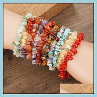 Charm Jewelryyoga 7 Chakra Adam Natural Stone Strand Bracelet Irregar Beads Women Mens Bracelets Fashion Jewelry Drop Delivery 2021 Iup2W