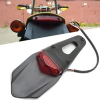 Cola de la motocicleta Moto de la luz Fender Trasero Parada LED Luz de cola para CRF250M CRM250R CRM250AR KTM 400EXC 400EXC-R 250EXC-R