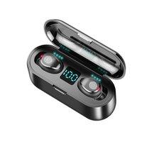 F9 Wireless Earphone Bluetooth V5.0 TWS Sports Headphones LED Display With 2000mAh Battery Microphone Headsets