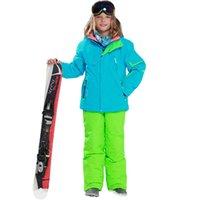 2021 inverno crianças terno de esqui -30 graus Siamese desgaste impermeável meninas quentes e meninos neve snowboard jaqueta roupas ao ar livre