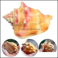 Novelty Décor & Gardennovelty Items Natural Shell Large Conch Carmine Fish Tank Landscape Aquarium Decoration Props Home Display Crafts Sea