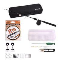 Boat Fishing Rods Fiberglass Fiber Rod Lure Set Portable Travel Bass Carp Pike Stick Combo Reel Tools