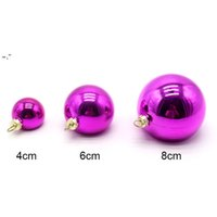 Sublimation Blanks 4cm 6cm Christmas Ball Decorations for INk Transfer Printing Heat Press DIY Gifts Craft Can Print BWB10282