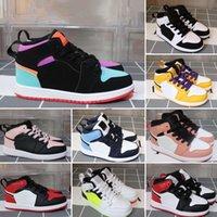 2020 Ucuz Erkek Kız 1 S Basketbol Ayakkabı Pembe Khaled Kurt J1 Çocuklar Jumpman I Sneakers Botları Boyutu 26-35