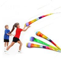 Fidget Toy Ręcznie rzucanie wstążką Rainbow Ball Zabawki Gry dla dzieci Dzieci Chłopcy Dziewczyny Jeux de Sport BuitensPeelgoed
