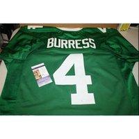 Benutzerdefinierte Mann Michigan State Spartans Plaxico-Burresse # 4 genäht Grün Full Stickerei-Jersey-Größe S-5XL oder benutzerdefinierte Name oder Nummer Jersey