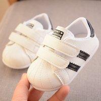 Wholesale little Kids Shoes first walkers Antislip soft Bottom Baby Sneaker Casual Flat Sneakers ShoesChilldren size Girls Boys Sports Shoes