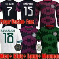 21 22 Mexico Copa america Soccer Jerseys Player Version 2021 camisetas de fútbol Lozano Herrera LAYUN RAUL GUARDADO VELA Tecatito Moreno Football Shirts
