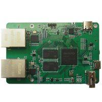 スマートホームコントロールROCKCHIP RK3328 1GB DDR3 SBC /シングルボードコンピュータデュアルGbpsイーサネットポートをサポートするDebian / Ubuntu / OpenWrt Nanopiと同じ