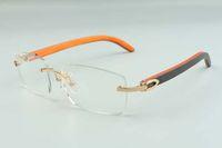 2021 남자를위한 새로운 스타일 안경 프레임 하이 엔드 디자이너 안경 3524012 자연 잡종 나무 안경 프레임, 크기 : 36-18-135