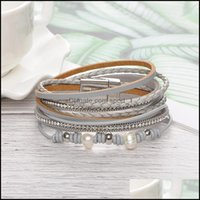 Charm Jewelrybracelet Luxury Designer Jewelry Women Bracelets Magnet Buckle Leather Mtilayer Men Iced Out Bracelet Ne1125 Drop Delivery 2021